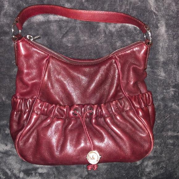 Michael Kors Handbags - Michael Kors burgundy leather bag